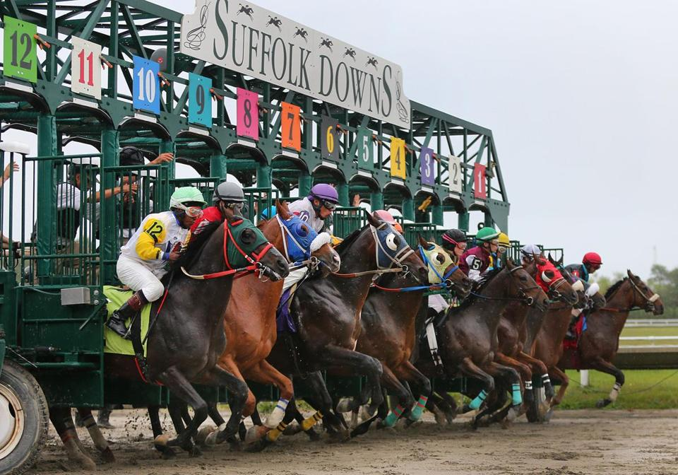 Horses left the gate for the last race at Suffolk Downs.