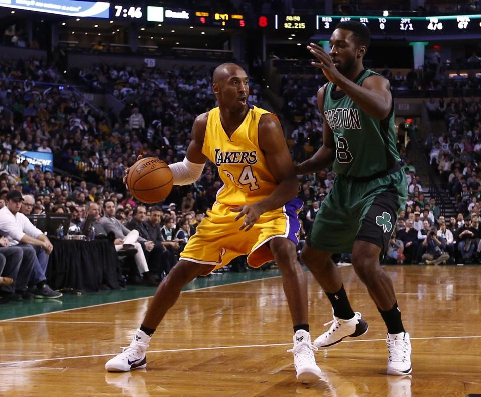 Lakers guard Kobe Bryant likely won't match Michael Jordan's haul of six NBA championship rings, but he will pass Jordan for third on the league's all-time scoring list very soon. Mark L. Baer-USA TODAY Sports