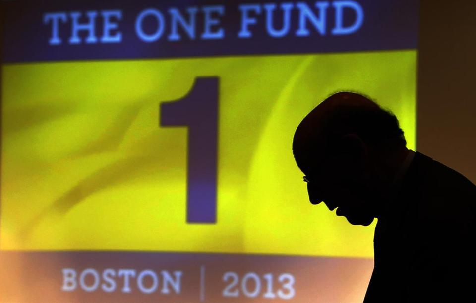 Ken Feinberg, administrator for One Fund Boston spoke at a meeting May 7, 2013.