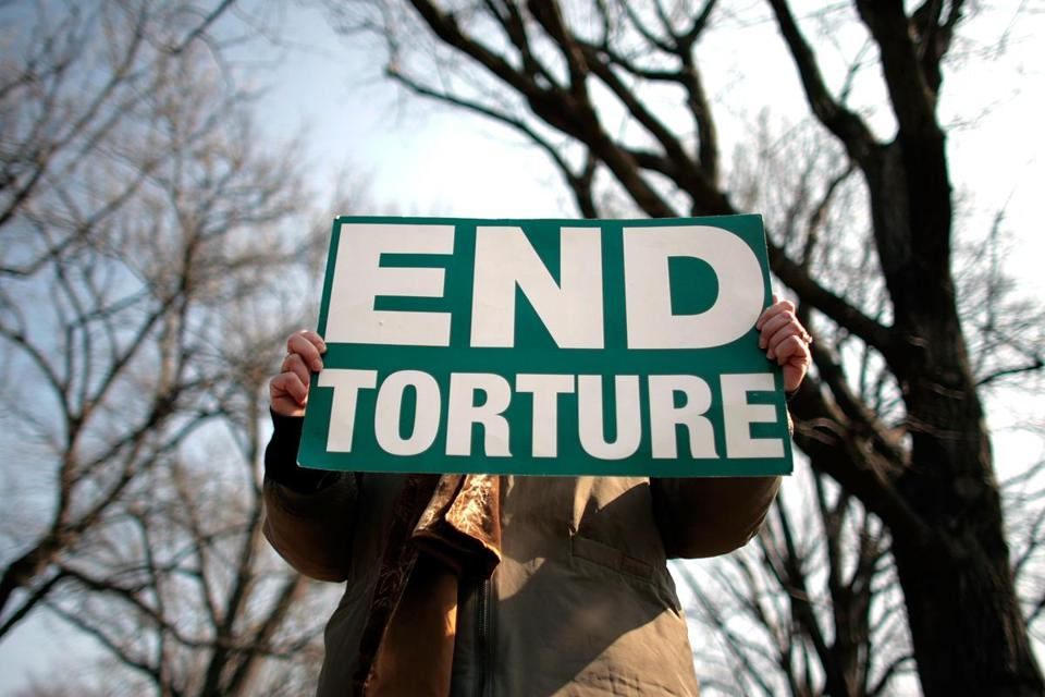 Members and supporters of The Washington Region Religious Campaign Against Torture held a rally in 2008 to demand congressional action to stop torture.