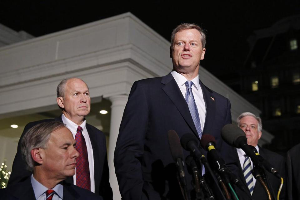 Governor-elect Charlie Baker declined to discuss specifics of how he might address any budget gap until he takes office.