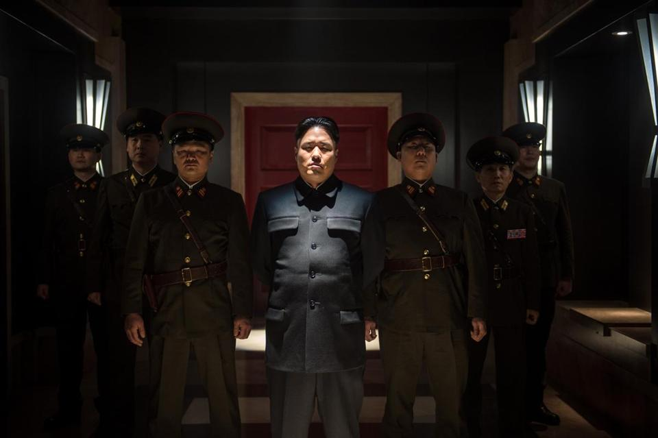 "In this scene from ""The Interview,"" Randall Park plays Kim Jong Un."
