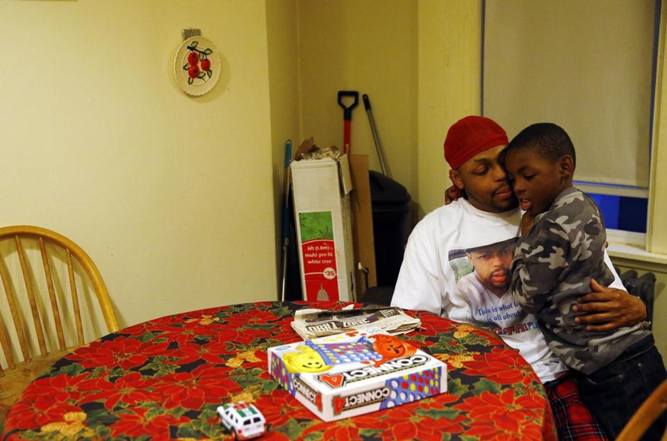 Michael and Jameal Griswold at their home in Everett.