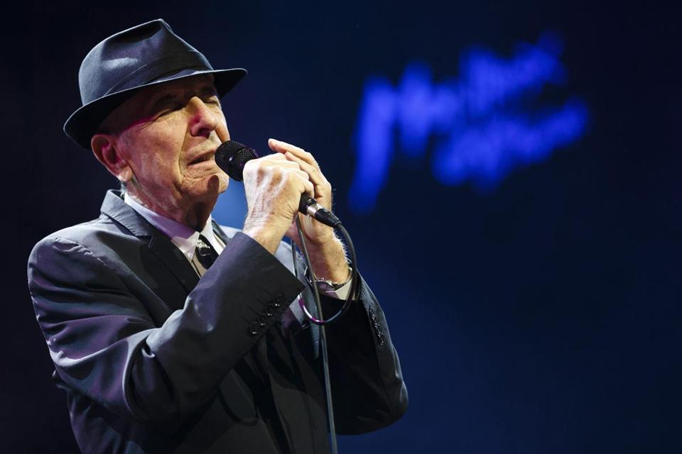 Leonard Cohen's baritone has finally caught up with his doom and gloom persona.