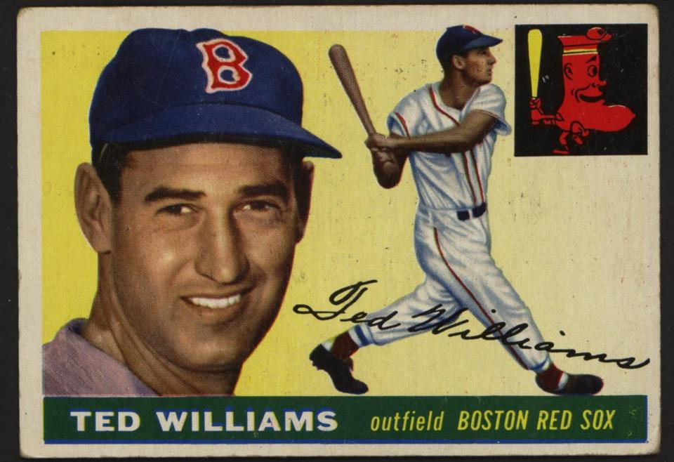 1955 Ted Williams baseball card