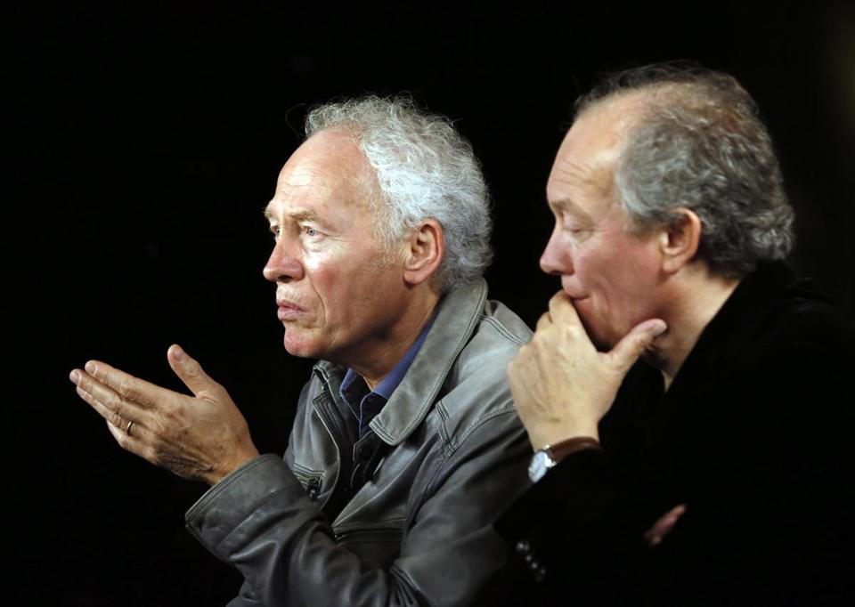 Jean-Pierre (left) and Luc Dardenne make their movies about the decline of industries and moral dilemmas that ensue.