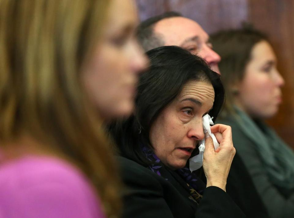 Patricia Lanzillotti cried in court where Mohamed Alfageeh pleaded guilty to charges that he killed her son, John, and his girlfriend, Jessica Campbell.