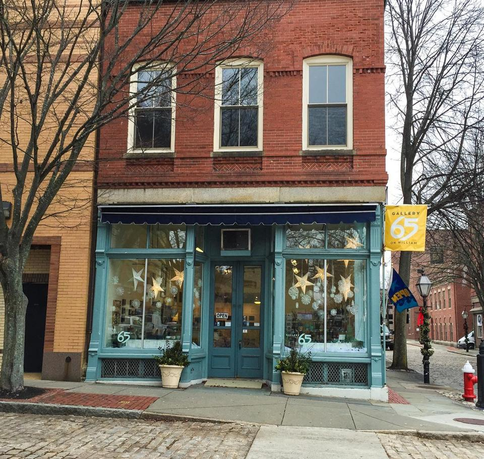 Gallery 65 is just one of the many galleries and art shops in downtown New Bedford.