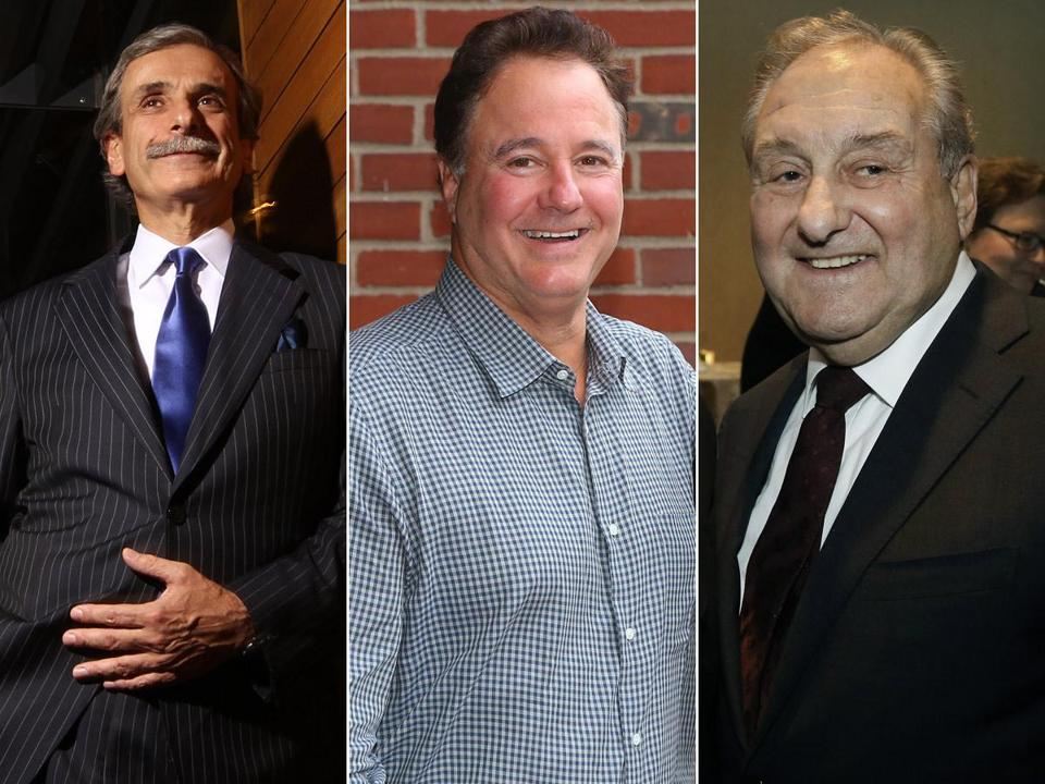 David Manfredi (left), Steve Pagliuca (center), and Bob Popeo are among the business giants whose interest and connections helped Boston's bid impress the USOC.