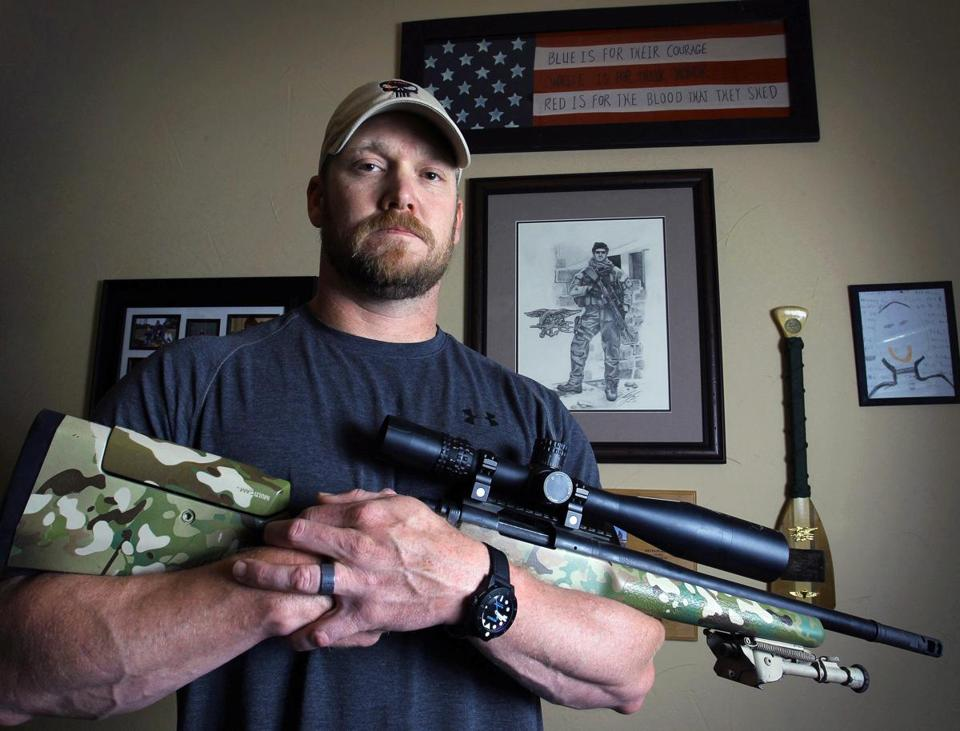 "The new Clint Eastwood film, ""American Sniper,"" is based on the life of now-deceased Navy SEAL Chris Kyle."