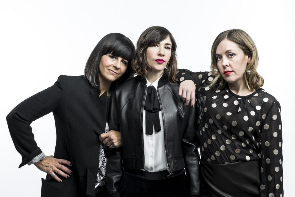 From left: Janet Weiss, Carrie Brownstein, and Corin Tucker of Sleater-Kinney.