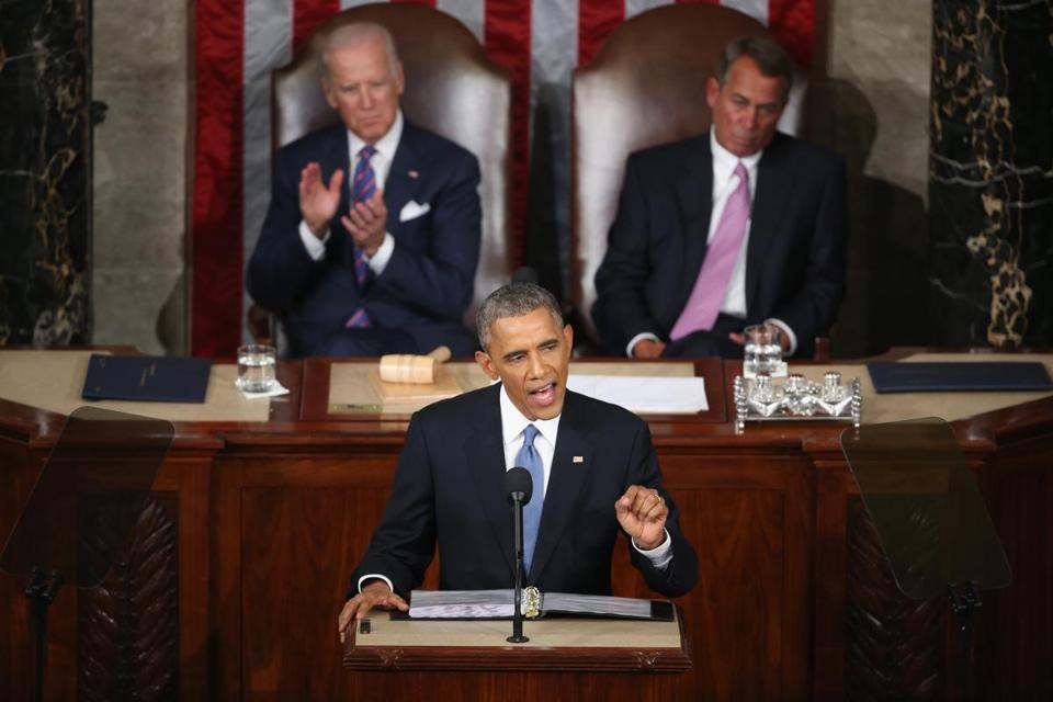 President Obama delivered the State of the Union address before a joint session of Congress in the House chamber.