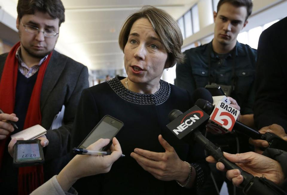 Maura Healey opposes her predecessor's deal with the hospital giant.