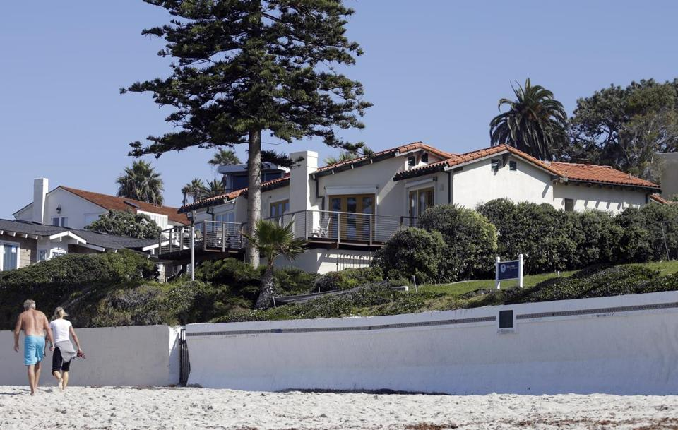 A home owned by former presidential candidate Mitt Romney, and his wife Ann in La Jolla, Calif.