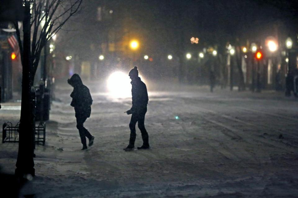 Two pedestrians were on Charles Street in  Boston Monday night.