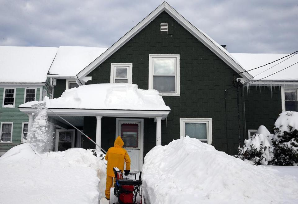 Hudson ended up with three feet of snow from this week's blizzard.