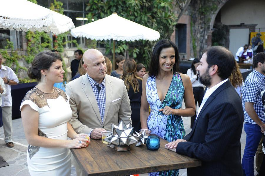 From left: Gail Simmons, Tom Colicchio, Padma Lakshmi, Enrique Olivera.