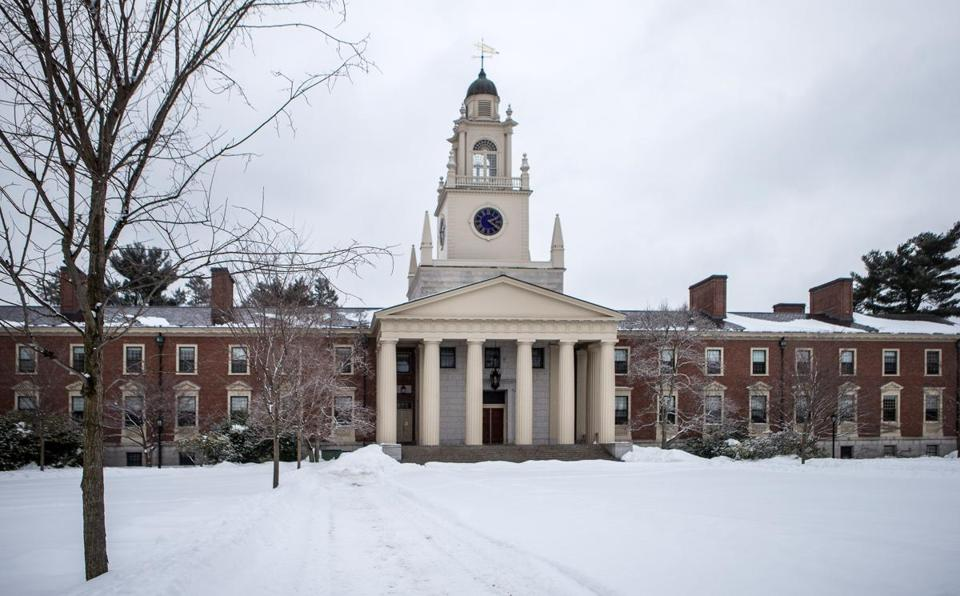 Samuel Phillips Hall at Phillips Academy in Andover.