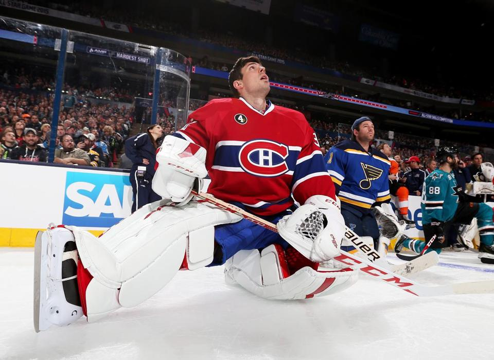 Technological advances have helped goaltenders such as the Canadiens' Carey Price (above) hone their games.