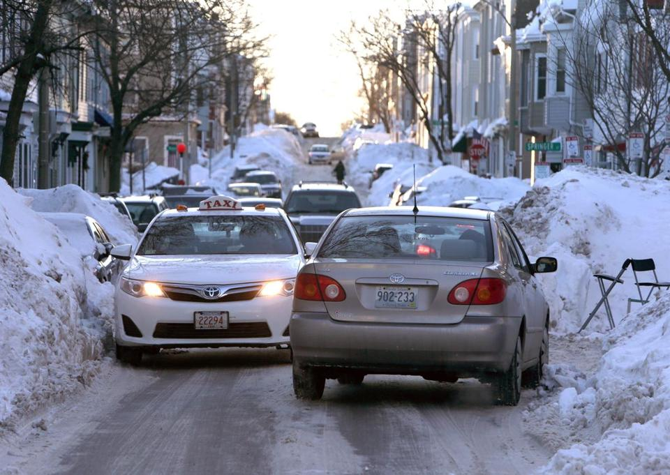 City streets have been reduced to lanes barely wide enough for one car, testing drivers' patience.