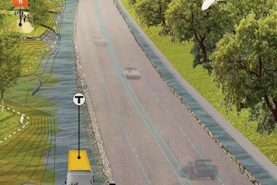One proposal envisions canals along Morrissey Boulevard