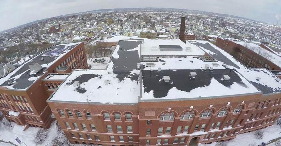 A drone captured this image of Somerville High School.
