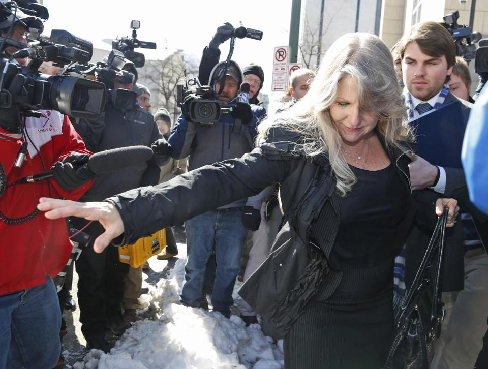 Maureen McDonnell left court after her sentencing Friday.