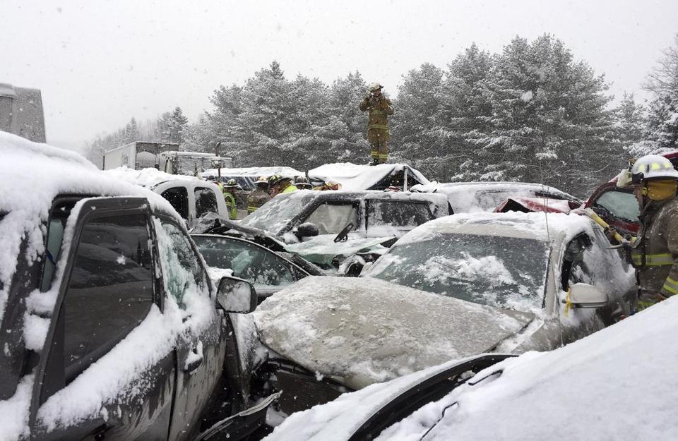 Video Of A Car Crash On Snowy Highway  Facebook