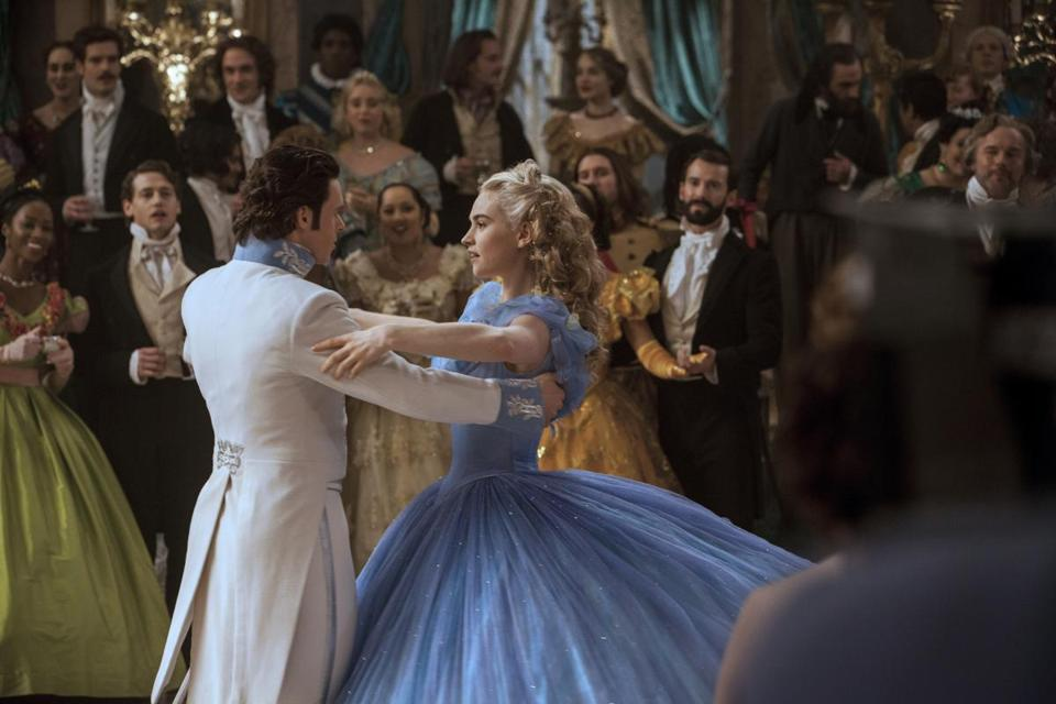 "Lily James and Richard Madden in Kenneth Branagh's ""Cinderella"" (2015)."