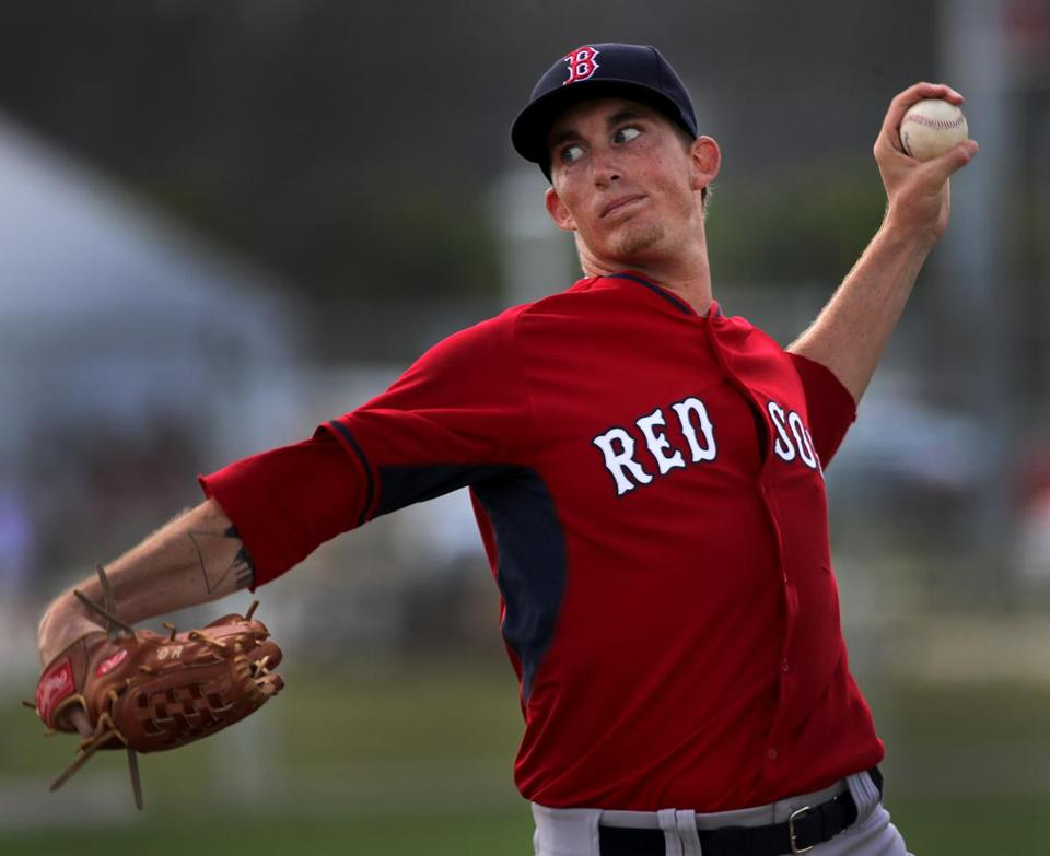 Fort Myers, FL - 03/02/15 - Boston Red Sox starting pitcher Henry Owens throwing live BP. Red Sox Spring Training. (Barry Chin/Globe Staff), Section: Sports, Reporter: Peter Abraham, Topic: 03Red Sox, LOID: 8.0.2826364469.