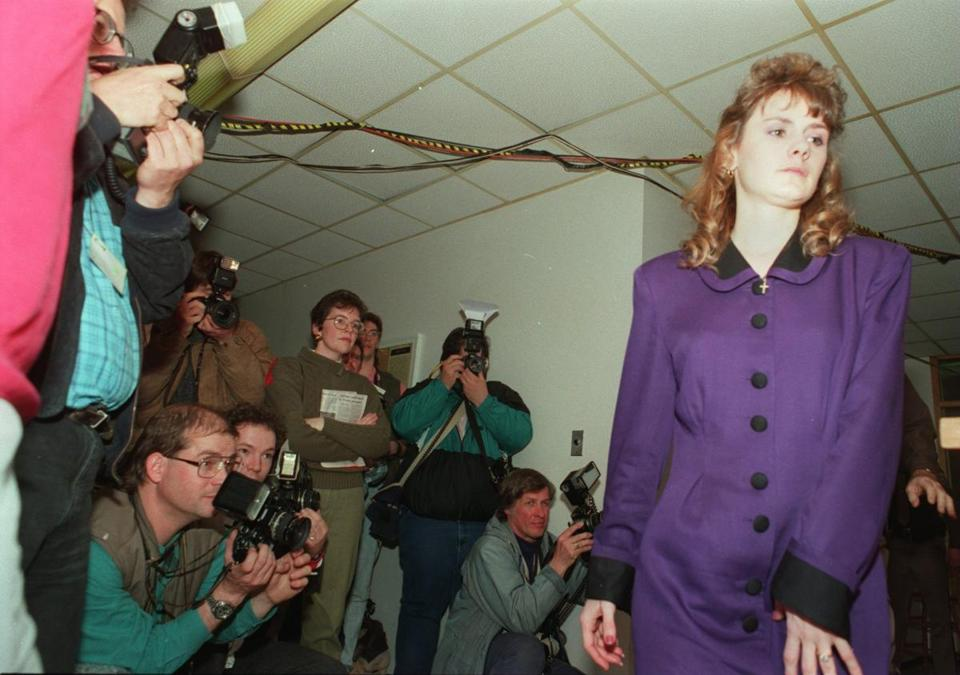 Pamela Smart  appeared at a 1991 news conference.