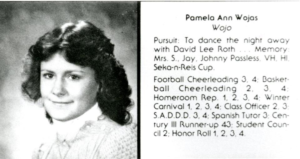 Pamela Wojas, now known as Pamela Smart, was pictured in the 1985 Pinkerton Academy yearbook.
