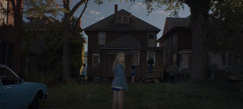 "Maika Monroe in the horror flick ""It Follows."""