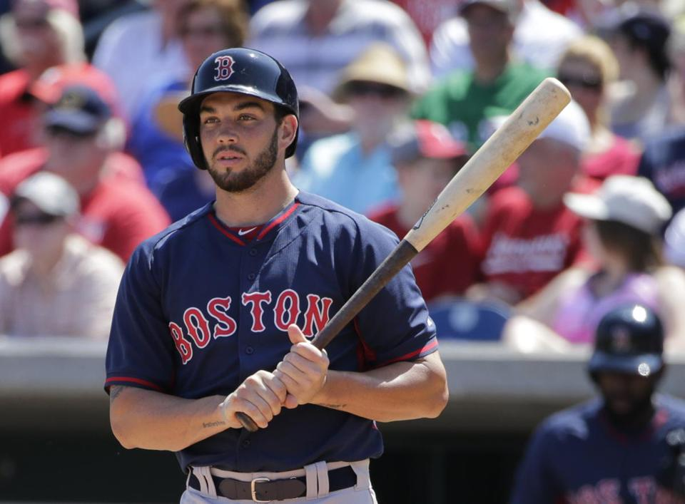 "Red Sox prospect Blake Swihart is good both behind the plate and with the bat. Said one scout: ""That's why you don't trade him. And that's why the Phillies and other teams would love to have him."""