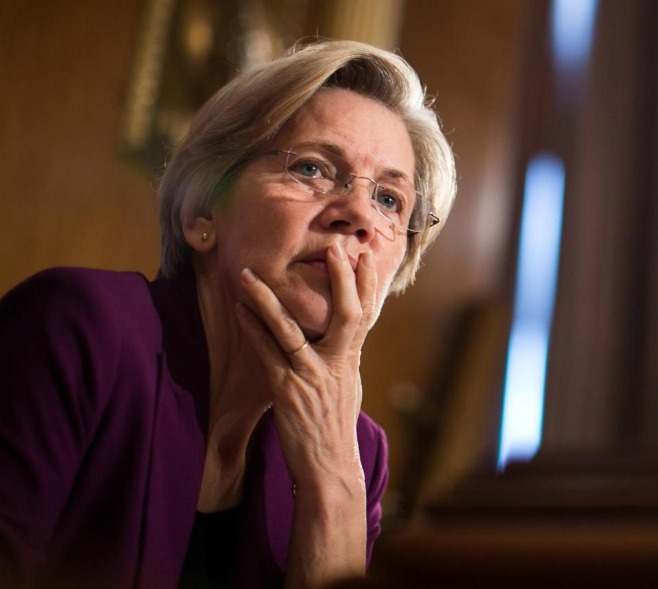 Senator Elizabeth Warren listened to testimony during a Senate committee hearing in 2013.