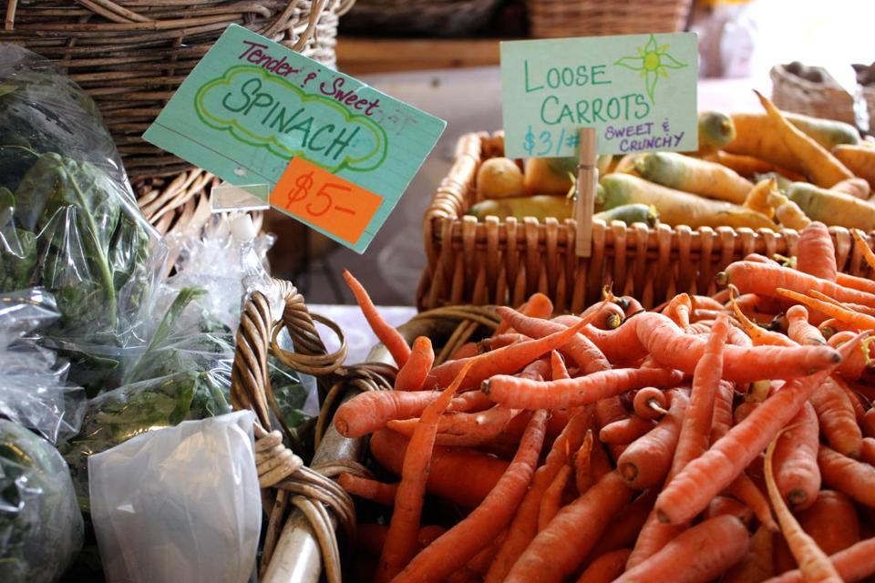 Produce at the farmer's market in Bath, Maine. 05muther