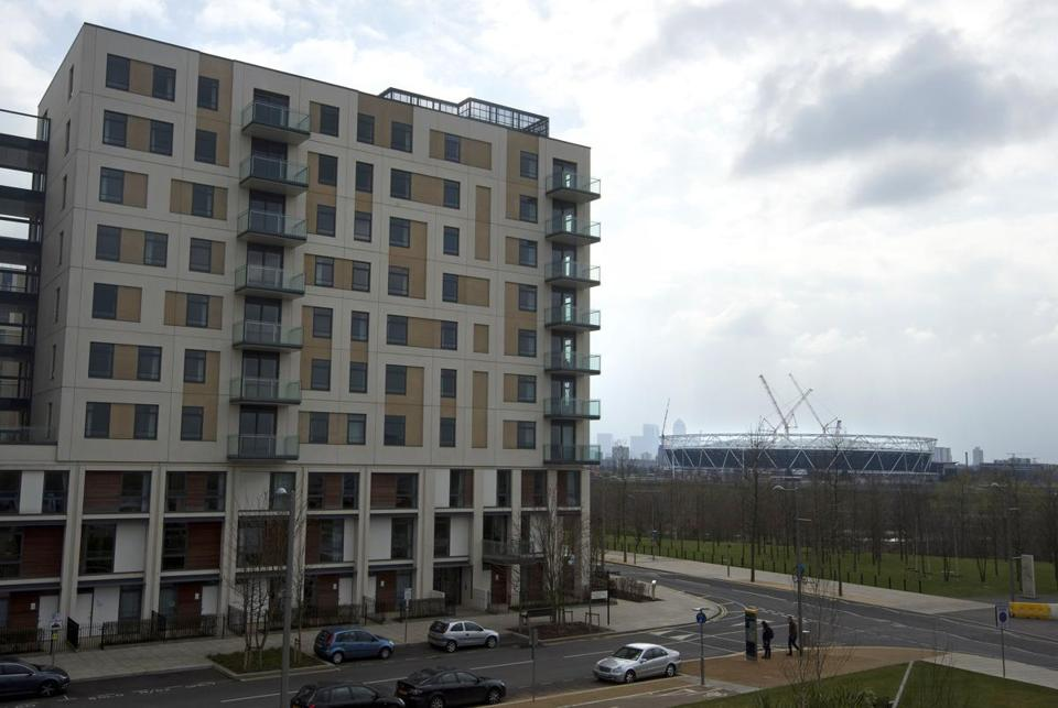 The Olympic village in London has already been converted into 2,800 apartments, home to about 4,500 people.