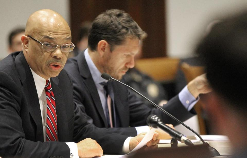 Gerald Francis, the general manager for Keolis Commuter Services, testified at Tuesday's State House hearing.
