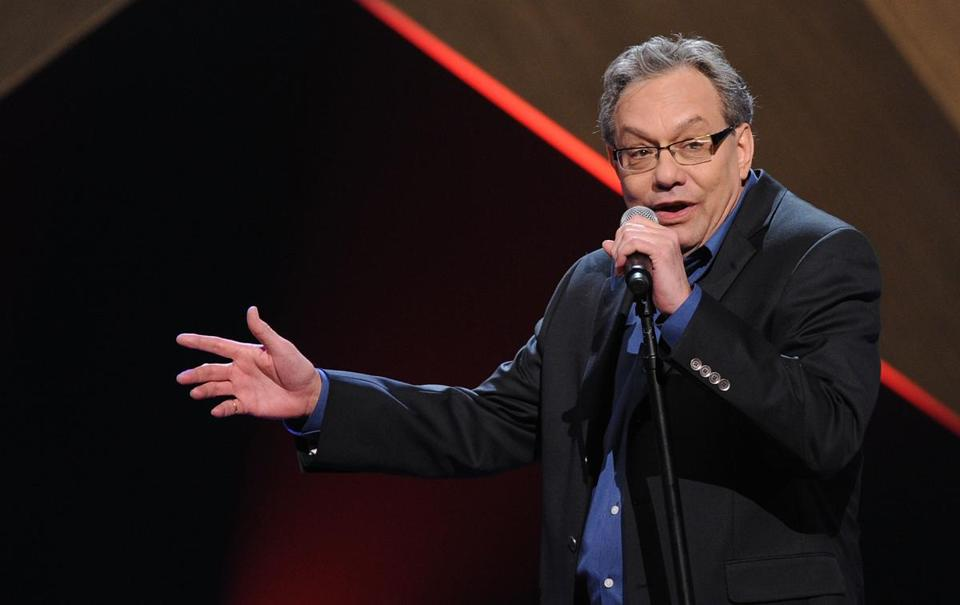 "NASHVILLE, TN - MARCH 09: ***EXCLUSIVE COVERAGE*** Comedian Lewis Black performs as part of CMT Presents ""Ron White's Comedy Salute To The Troops"" A Special Honoring The Armed Forces Premiering Saturday, March 12 on CMT. All performaces taped at the Grand Ole Opry House on [February 15, 2011] in Nashville, Tennessee. (Photo by Rick Diamond/Getty Images for CMT)"