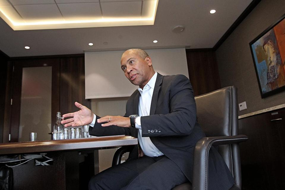 Former governor Deval Patrick announced he will be starting a new line of business centered on finding investments that can produce profits and address social needs.