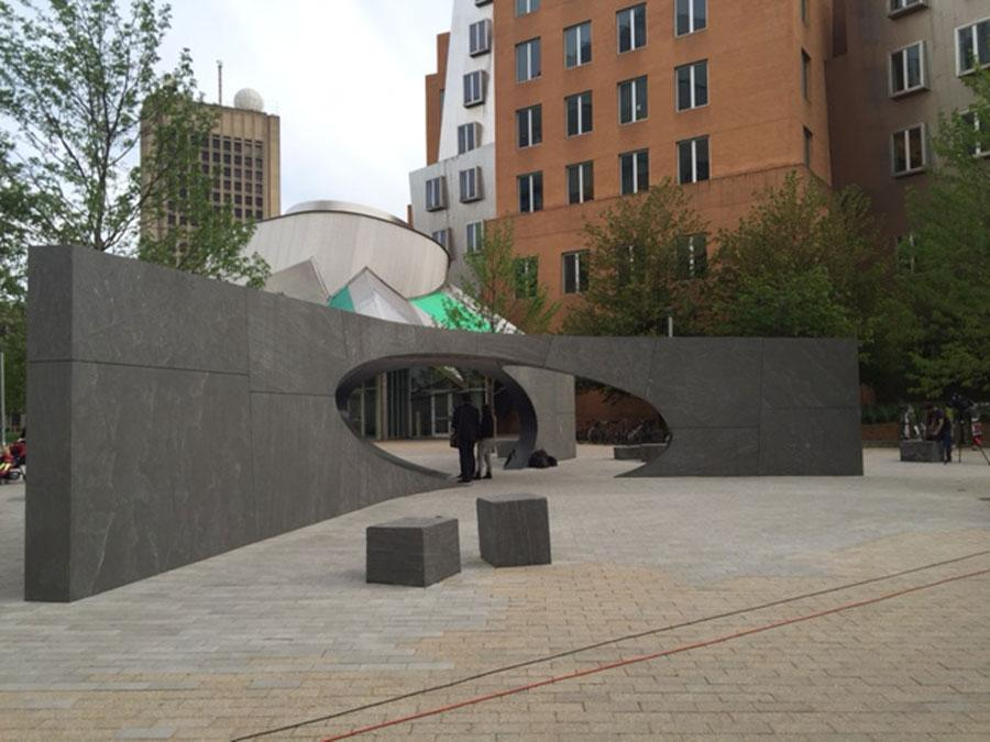 The monument to MIT Police Officer Sean Collier was shown Friday.