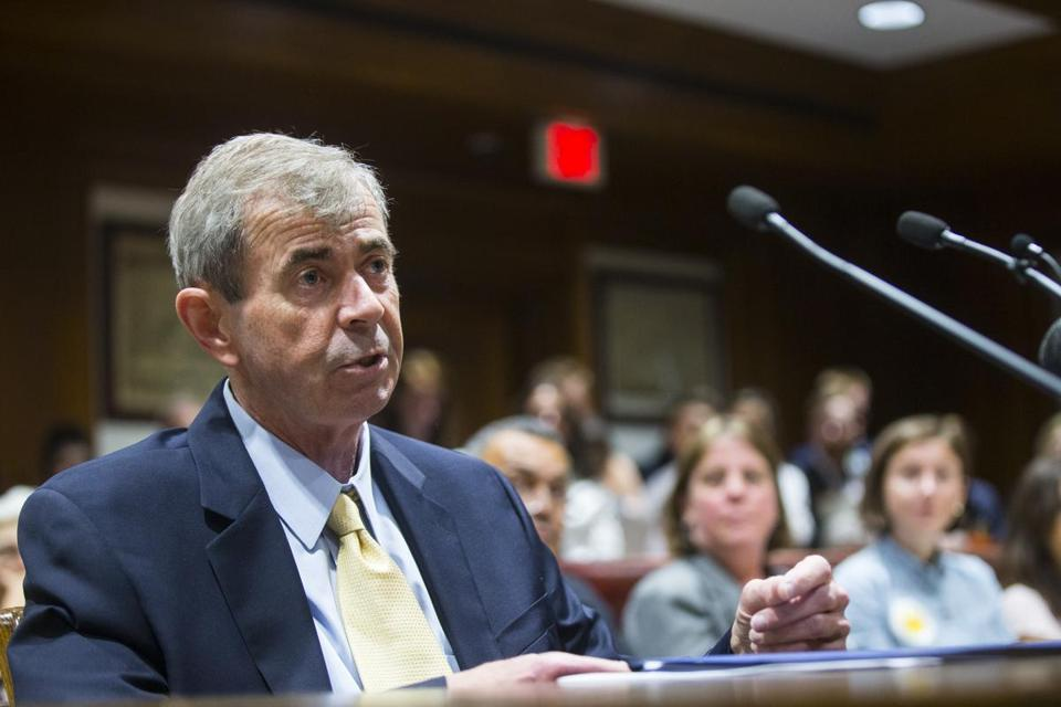 Massachusetts Secretary of the Commonwealth William Galvin spoke at a hearing on public records reform at the State House on Tuesday.