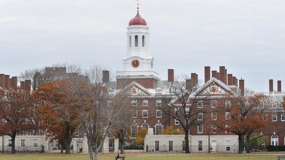 FILE - This Nov. 13, 2008 file photo shows the campus of Harvard University in Cambridge, Mass. The Ivy League school is the alma mater for seven chief executives who led their companies' IPOs in 2014, more than twice the amount of the next-highest schools in the rankings, according to figures from Equilar, an executive compensation data firm. (AP Photo/Lisa Poole, File)