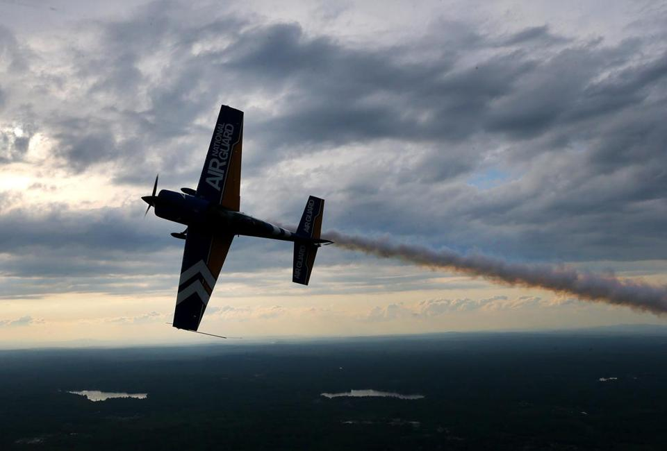 Klatt will be performing with his fellow stunt-pilots of the John Klatt Airshows this Saturday and Sunday along with the Blue Angels at the Quonset Air Show in Rhode Island where the Corcorans will be his VIP guests.