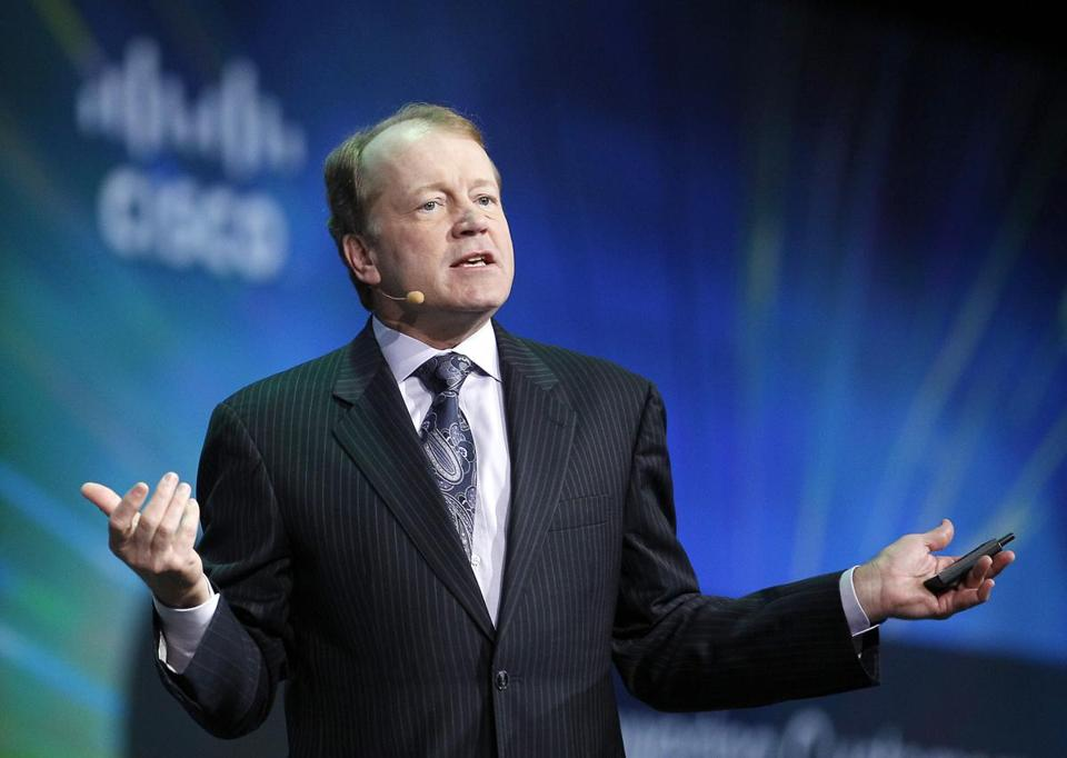 CEO John Chambers was pressured by investors and had a compensa