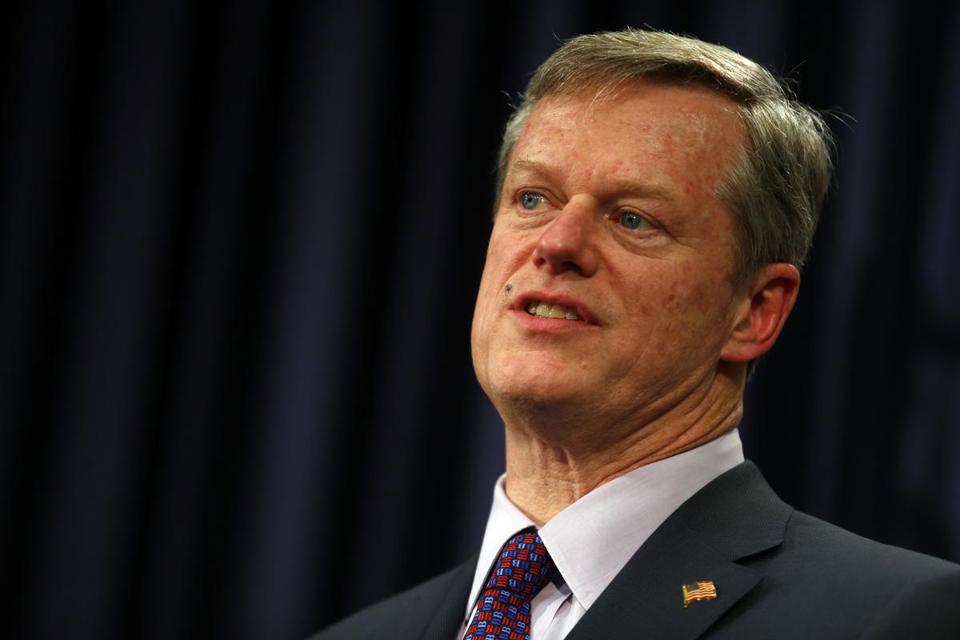 Governor Charlie Baker said Thursday that states should be entitled to decide whether to fly the Confederate flag at their capitols.