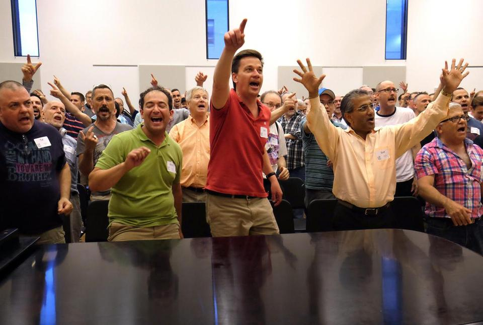 Boston Gay Men's Chorus rehearsing in May in preparation for the group's tour of the Middle East.
