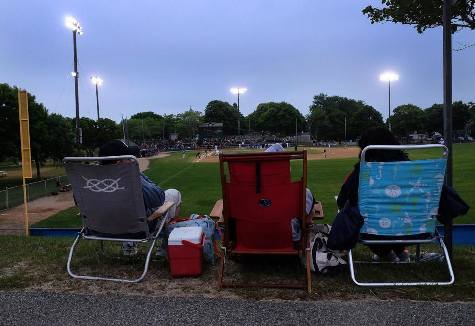 Fans take in a game between the Brewster Whitecaps and the Chatham Anglers in Chatham.