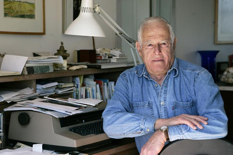 Writer James Salter at his home in Bridgehampton, N.Y., in 2005.