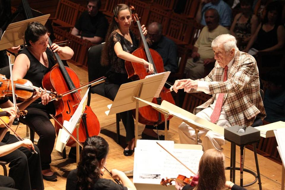 Mr. Schuller led the Tanglewood Music Center Orchestra in a 2012 performance.